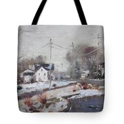 Spring Snowfall Tote Bag