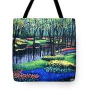 Spring Splendor Tulip Garden Tote Bag