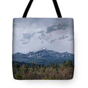 Spring Storm Behind Pagosa Peak Tote Bag by Jason Coward