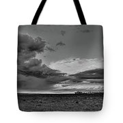 Spring Storm Front In Black And White Tote Bag