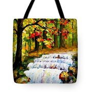 Spring Stream - Palette Knife Oil Painting On Canvas By Leonid Afremov Tote Bag