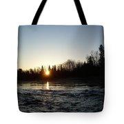 Spring Sunrise Over Mississippi River Tote Bag