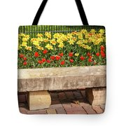 Spring Surrounds The Bench Tote Bag