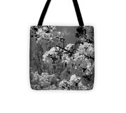 Spring Trees - B And W Tote Bag