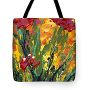 Spring Tulips Triptych Panel 1 Tote Bag