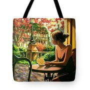 Spring, View From A Cafe Window In Paris Tote Bag
