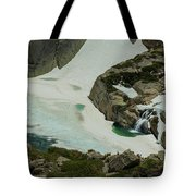 Spring Waterfall Arial Tote Bag