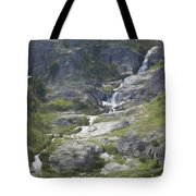 Spring Waterfall In The Tetons Tote Bag