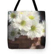 Spring White Daisies Tote Bag by Melissa Herrin