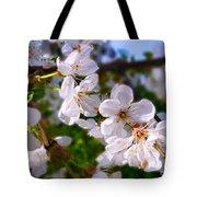 Spring White Tote Bag