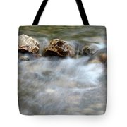 Spring With Rocks Nature Scene Tote Bag