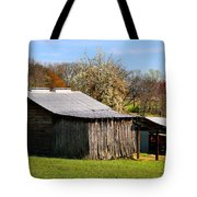 Spring Woods And Barn Tote Bag