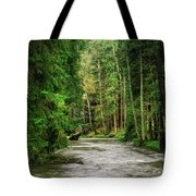 Spring Woods Greenery Tote Bag