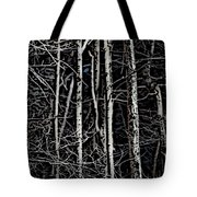 Spring Woods Simulated Woodcut Tote Bag