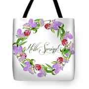 Spring Wreath Tote Bag