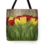 Spring Yellow And Red Tulips Tote Bag