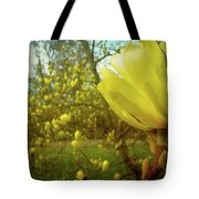 Spring. Yellow Magnolia Flower Tote Bag