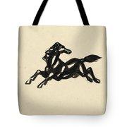 Springend Paard Met Het Hoofd Naar Achteren Gedraaid Tote Bag