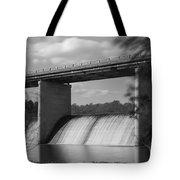 Springfield Lake Dam Grayscale Tote Bag