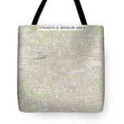 Springfield Missouri Us City Street Map Tote Bag