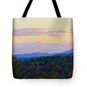 Springfield New Hampshire Mountain Veiw Fall Colors Tote Bag