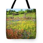 Spring's Floral Quilt Tote Bag