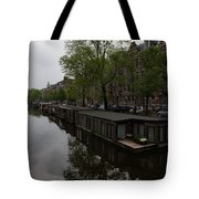 Springtime Amsterdam - Boathouses And Miniature Gardens Tote Bag