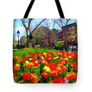 Springtime At Abingdon Square Park Tote Bag