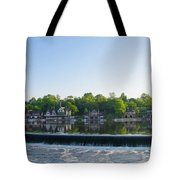 Springtime At Boathouse Row In Philadelphia Tote Bag