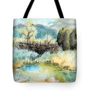 springtime at Fred Baca Park in Taos, NM Tote Bag