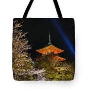 Springtime At Kiyomizu-dera Tote Bag