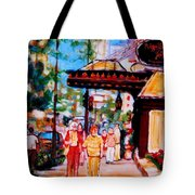 Springtime At The Ritz Tote Bag