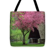 Springtime In The Park Tote Bag by Lori Frisch