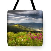 Springtime Mountain Tote Bag