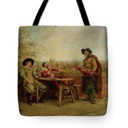 Springtime On The Terrace Tote Bag