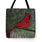 Springtime Red Cardinal Tote Bag