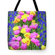Springtime Tulips 01 Painterly Effecy Tote Bag