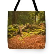 Spruce Logs Leith Hill Surrey 2014 Tote Bag