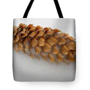 Spruce Tree Cone In The Snow Tote Bag