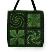 Square Crop Circles Quad Tote Bag