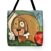 Square Dog Tote Bag