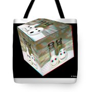 Square Meal - Use Red-cyan 3d Glasses Tote Bag