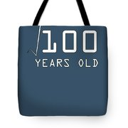 Square Root Of 100 10 Years Old Birthday Tote Bag