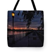 Squarely Into Sunup  Tote Bag