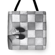 Squares And Feet Tote Bag