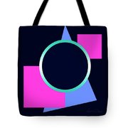 Squares And Triangle Subsumed By Circle Tote Bag