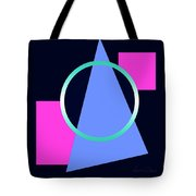 Squares Subsumed By Cirle Tote Bag