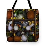 Squash And Gourds In Compartments Tote Bag