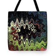 Squash Beans And Peppers Abstract Tote Bag