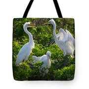 Squawk Of The Great Egret Tote Bag